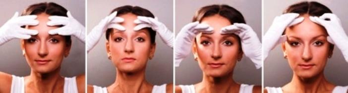 Эффективным методом борьбы с мимическими морщинами на лбу в домашних условиях является массаж