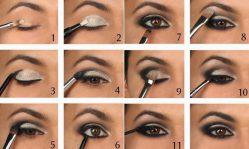Макияж смоки айс для карих глаз: как делать правильно и какие тени использовать